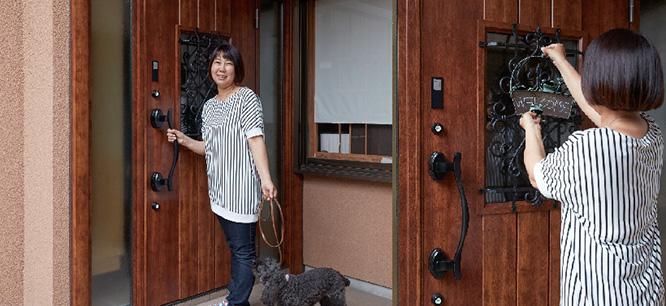 case4 玄関ドアの事例写真