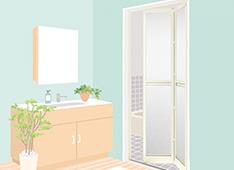 リフォーム浴室中折ドアのイメージ画像