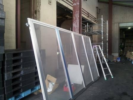 竹原屋本店の☆食料倉庫☆巨大ハンガー式網戸を設置(^O^)/PARTⅠの施工後の写真3