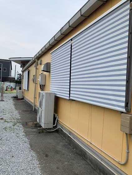 小林エコ建材の可愛くお洒落に日差しをカット!嘉麻市恵大保育園にスタイルシェードを取付けました。の施工後の写真1