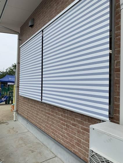 小林エコ建材の可愛くお洒落に日差しをカット!嘉麻市恵大保育園にスタイルシェードを取付けました。の施工後の写真2
