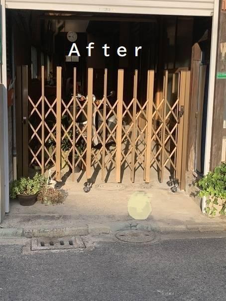 小林エコ建材のシャッターの開け閉めが大変で・・の施工後の写真1