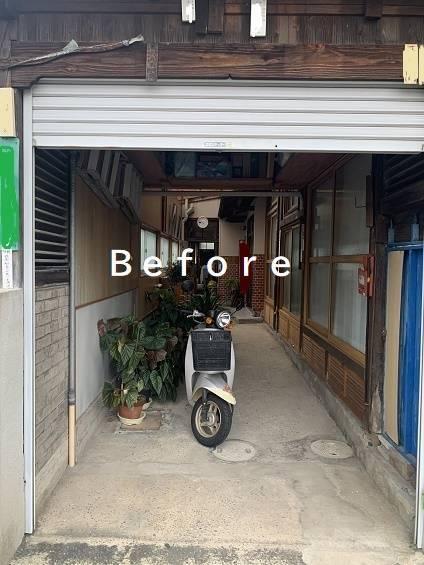 小林エコ建材のシャッターの開け閉めが大変で・・の施工前の写真1
