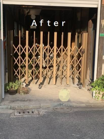 小林エコ建材のシャッターの開け閉めが大変で・・施工事例写真1