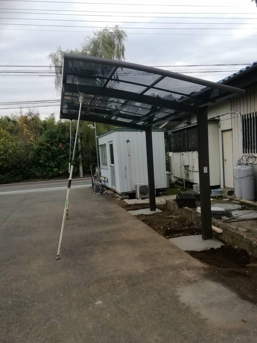 葵トーヨーのカーポート新設工事の施工後の写真1