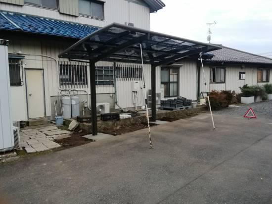 葵トーヨーのカーポート新設工事施工事例写真1