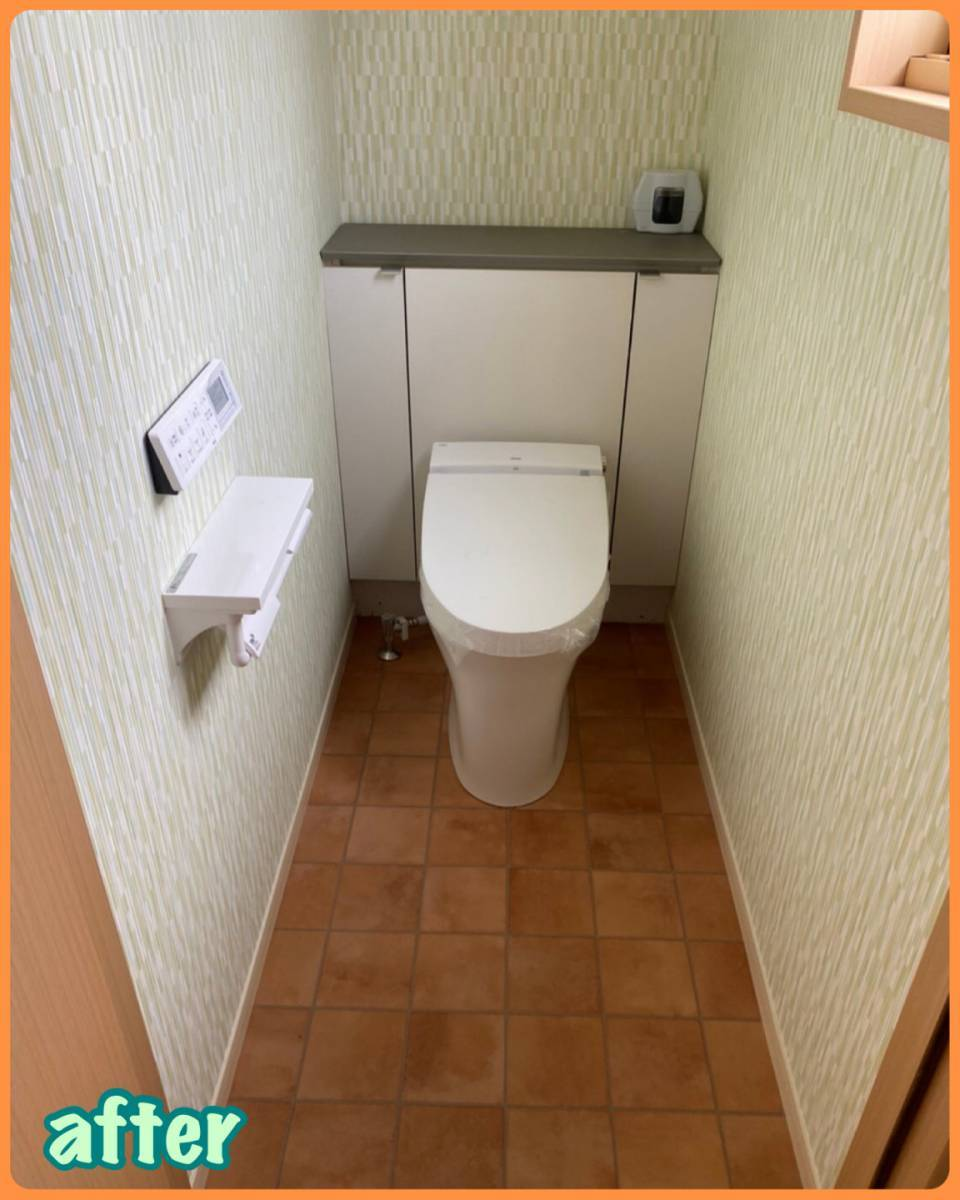 MITSUWA 西尾のトイレのランプが点滅するので不安!の施工後の写真1