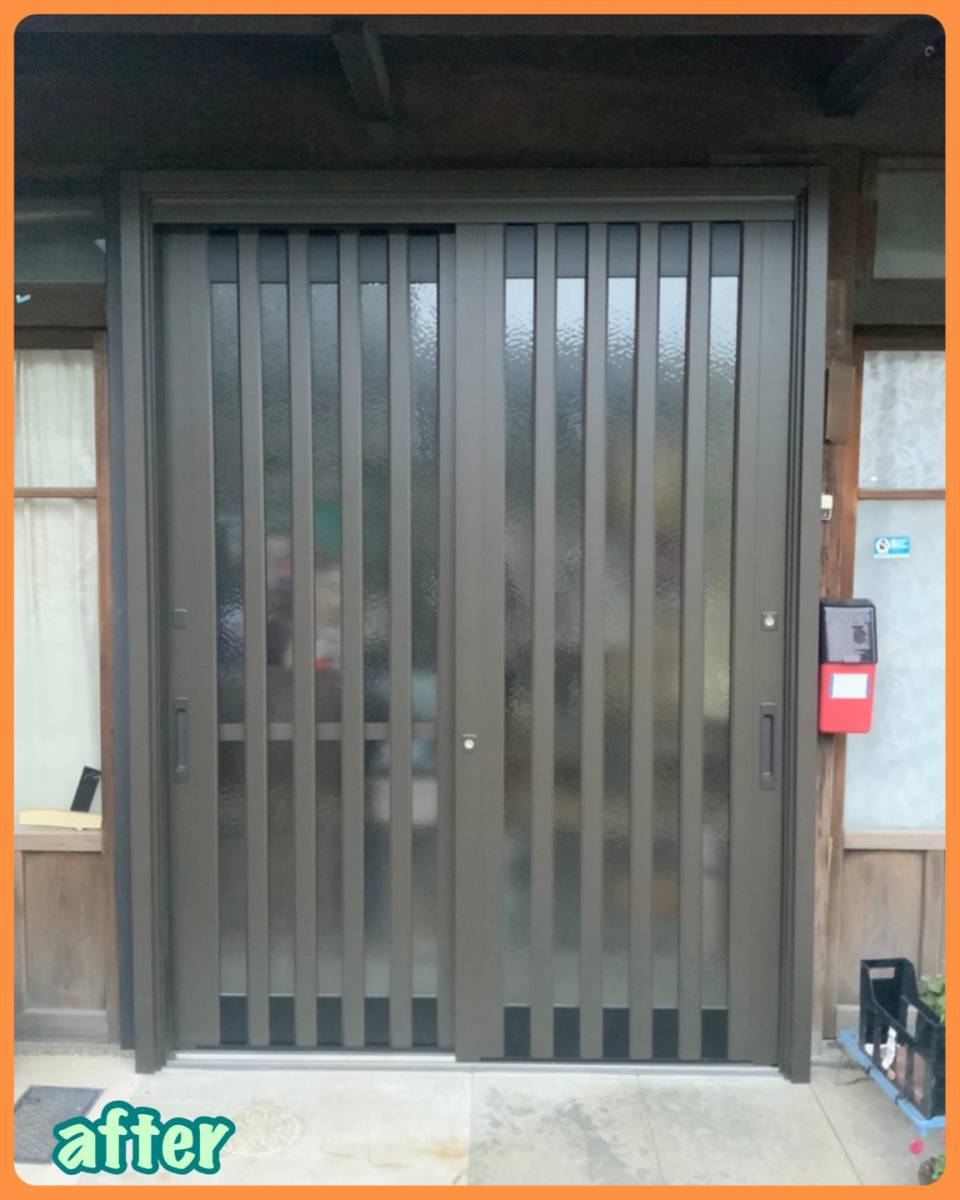 MITSUWA 西尾の玄関の建付けが悪く、鍵もうまく閉められない!の施工後の写真1