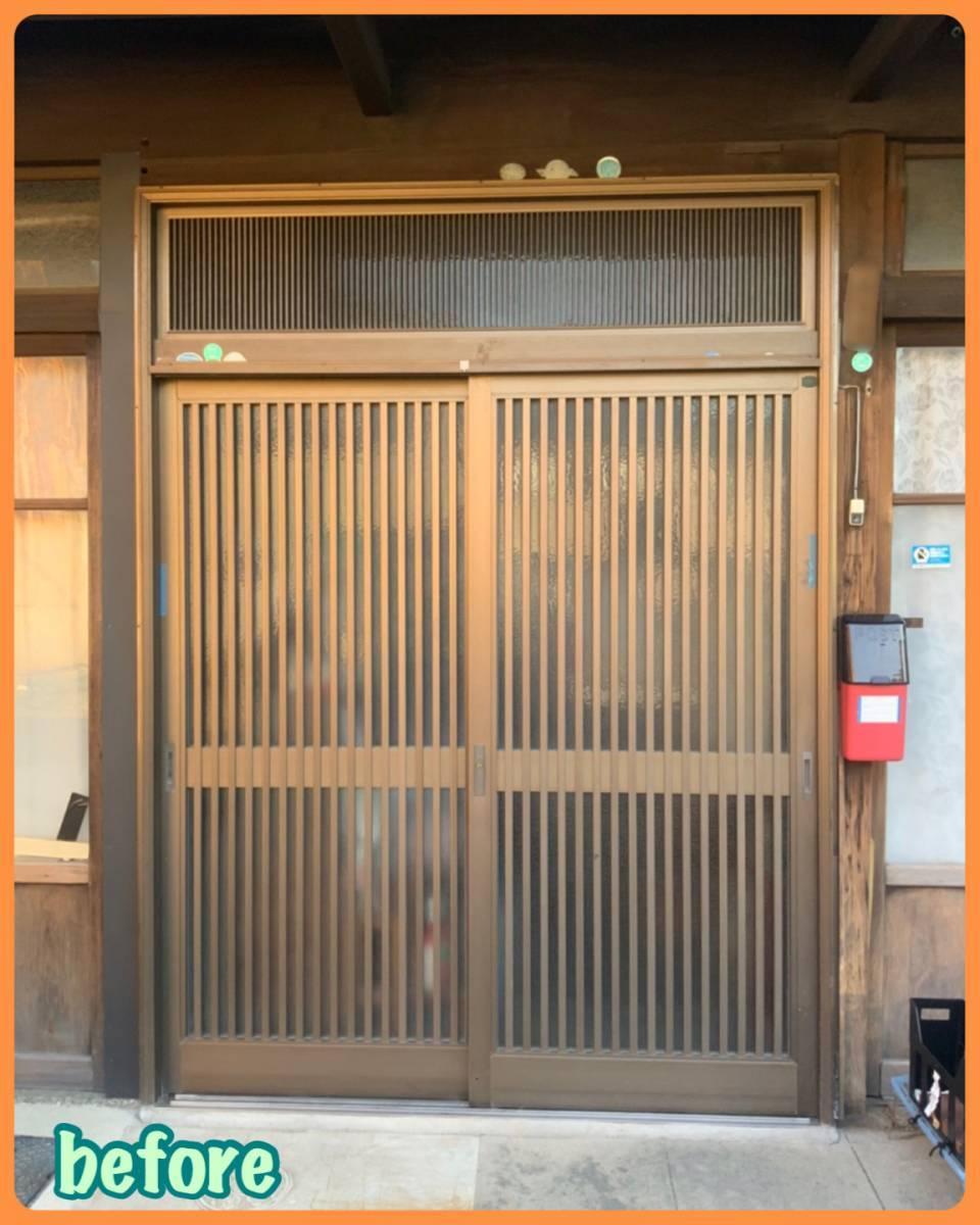 MITSUWA 西尾の玄関の建付けが悪く、鍵もうまく閉められない!の施工前の写真1