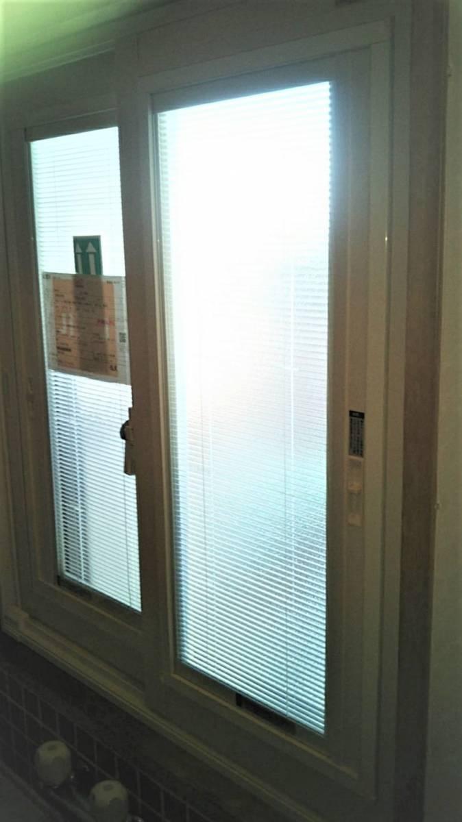 カミケン+の浴室にブラインドインのインプラスの施工後の写真1
