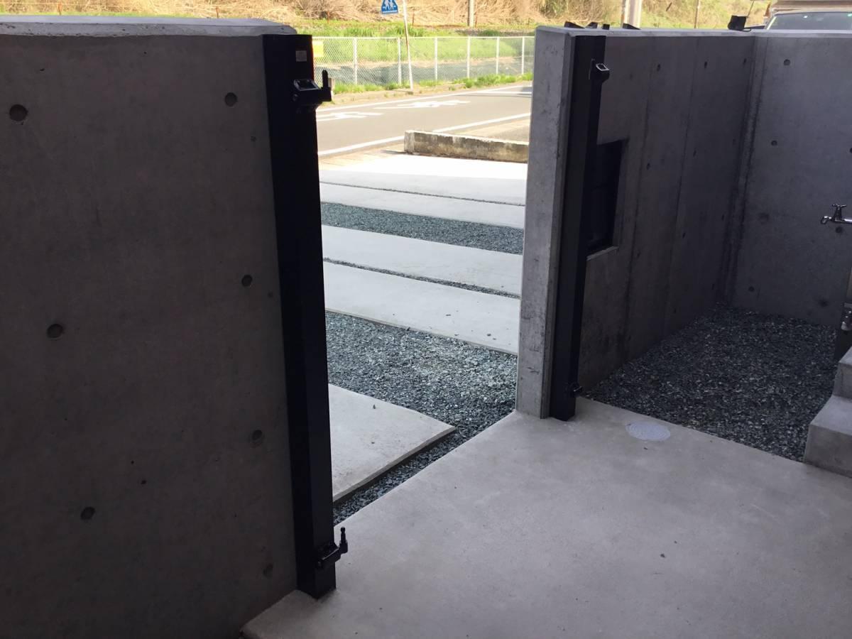スルガリックス 静岡店の門扉を設置いたしました。の施工前の写真1
