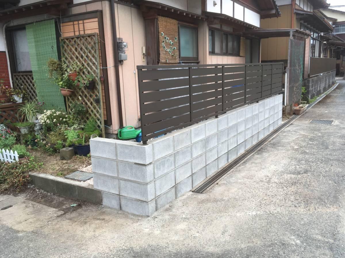 大和アルミトーヨー住器のフェンスをつけてプライバシーを守りながら、enjoyできる自宅への施工後の写真2