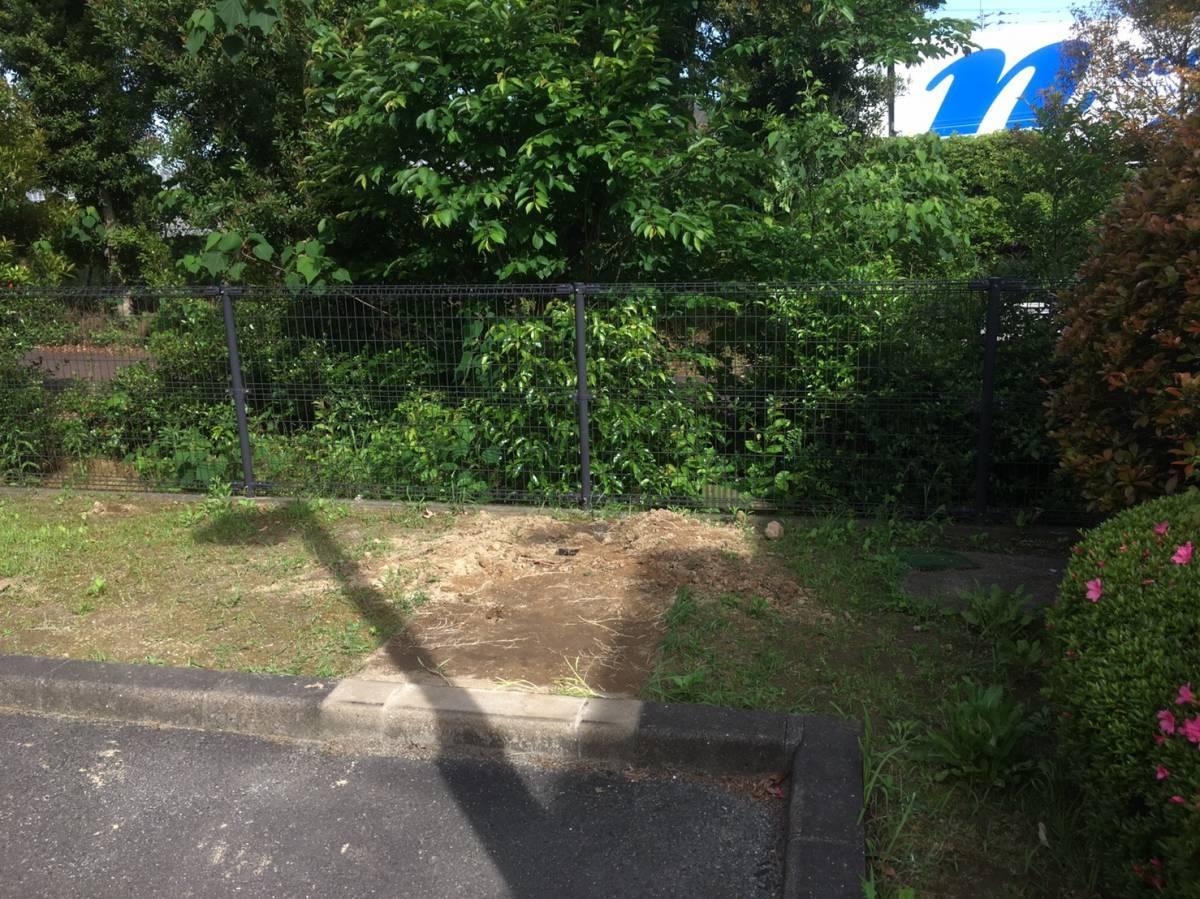 大和アルミトーヨー住器のサイクルポート取付の施工前の写真1
