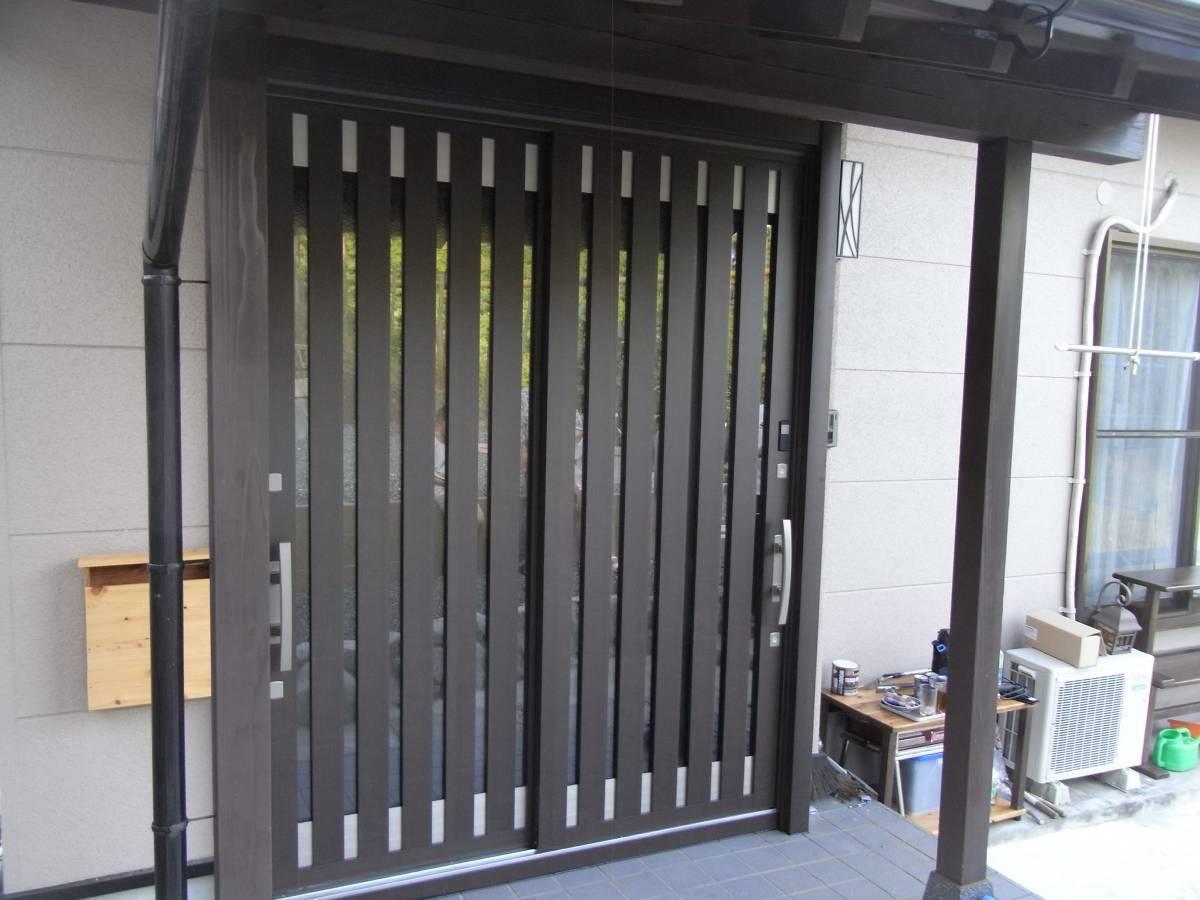 大和アルミトーヨー住器の玄関をリニューアルの施工後の写真1