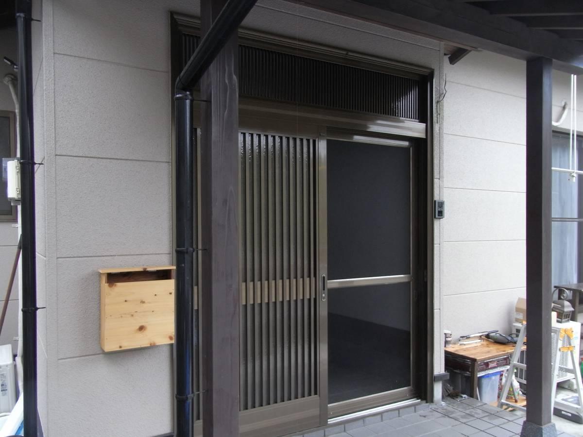大和アルミトーヨー住器の玄関をリニューアルの施工前の写真2