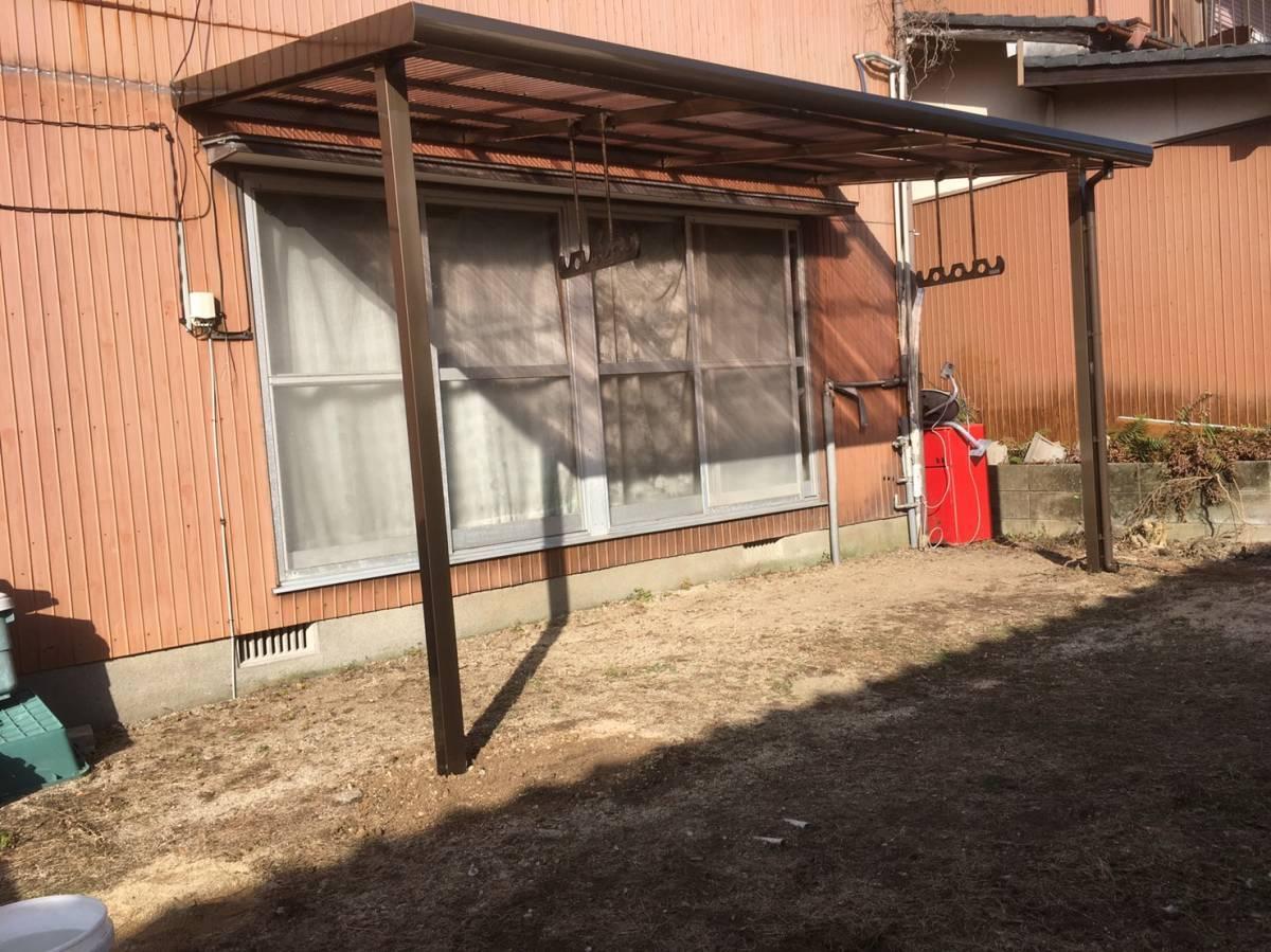 大和アルミトーヨー住器のテラス取付の施工後の写真1