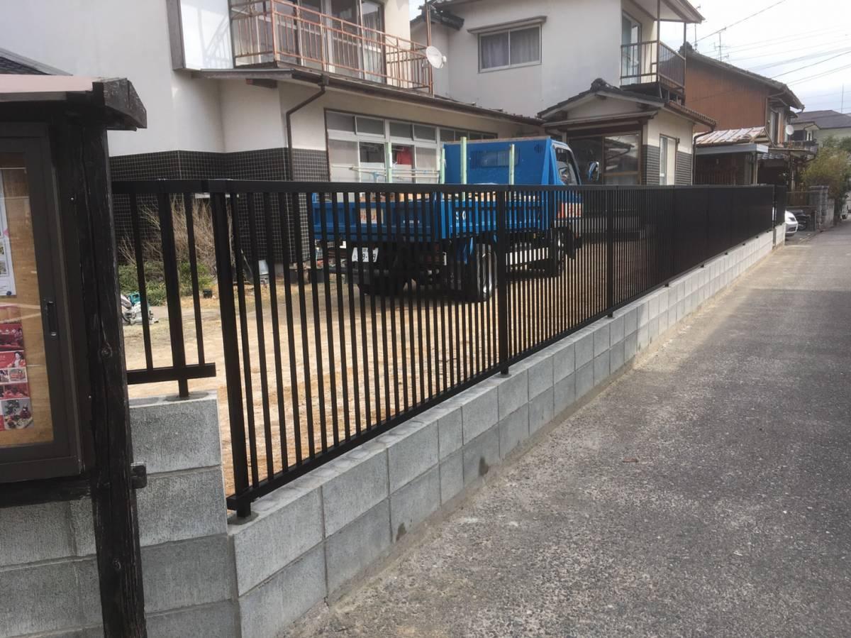 大和アルミトーヨー住器のフェンスを追加し、防犯対策の施工後の写真1