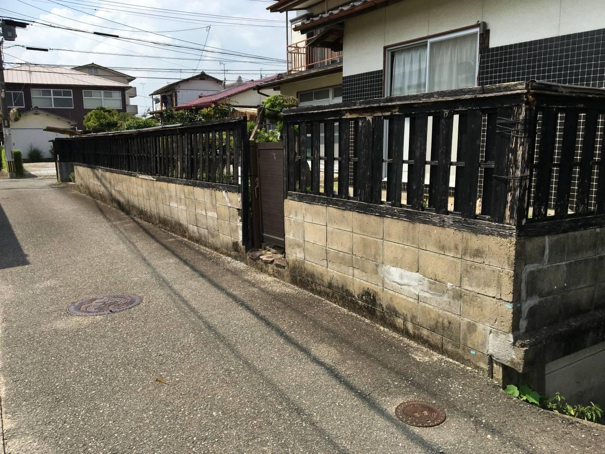 大和アルミトーヨー住器のフェンスを追加し、防犯対策の施工前の写真1