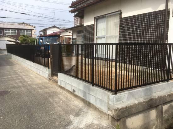 大和アルミトーヨー住器のフェンスを追加し、防犯対策施工事例写真1