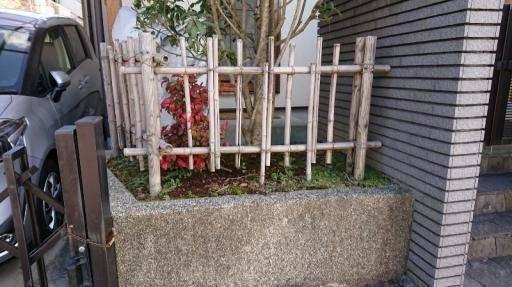 阪神北トーヨー住器のフェンス工事の施工前の写真1