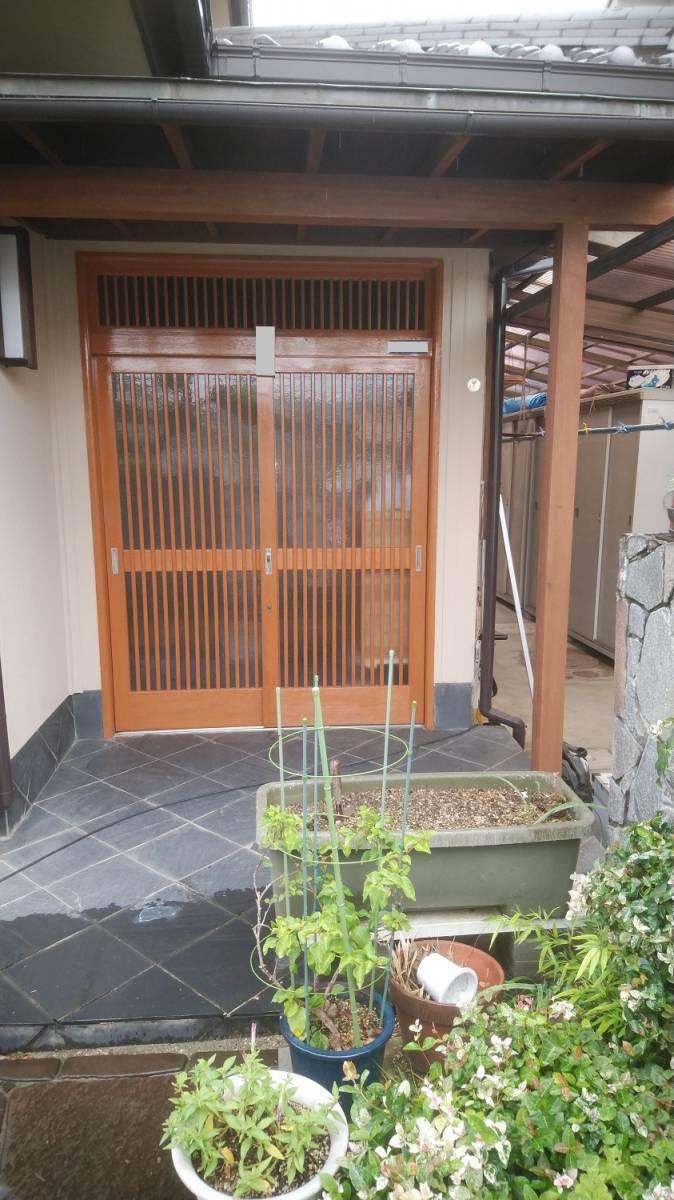 村島硝子商事のリクシル1Daリフォーム リシェント取り換え引き戸の施工前の写真1