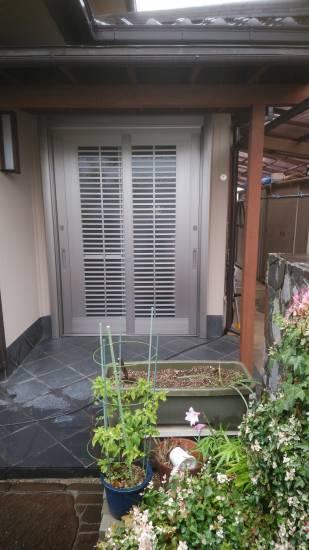 村島硝子商事のリクシル1Daリフォーム リシェント取り換え引き戸施工事例写真1