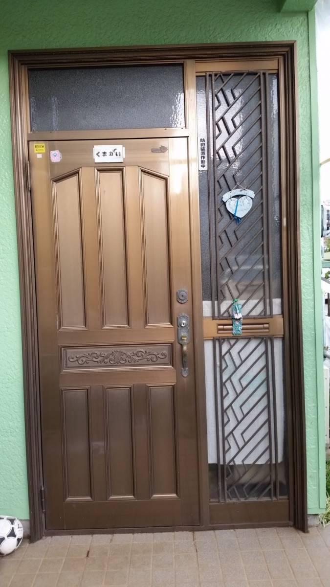 北総トーヨー住器の安心安全に暮らす為、玄関リフォームによる防犯対策!の施工前の写真1