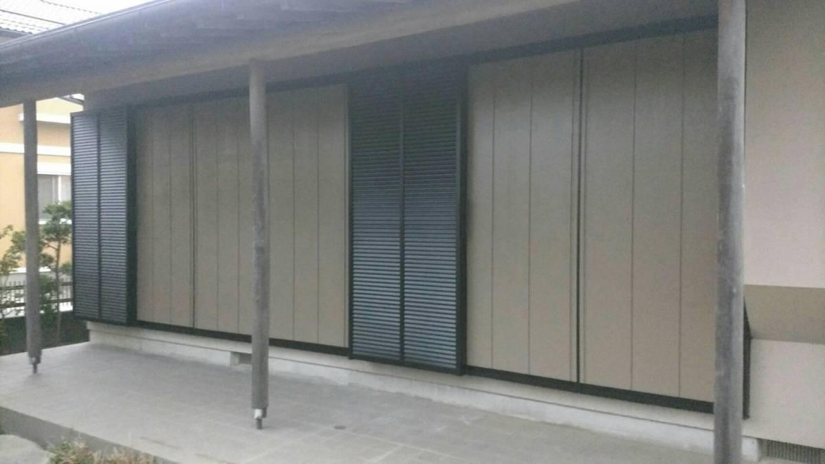 大成トーヨー住器の雨戸取付工事の施工後の写真1