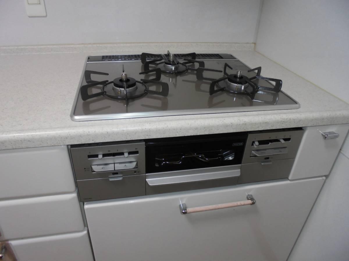 北摂トーヨー住器のキッチンリフォーム!コンロとレンジフードを交換しました。の施工後の写真3