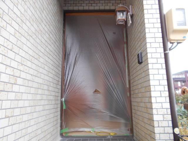 サッシセンターフジイ 名古屋西店の玄関ドアの取替の施工前の写真2
