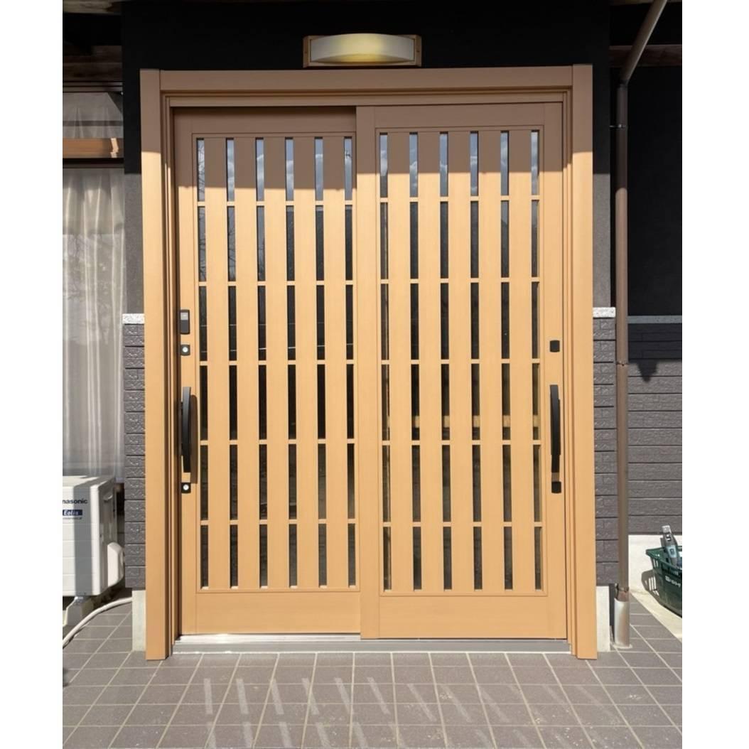 窓工房テラムラの古くなった玄関引戸をタッチキー式のおしゃれな玄関引戸に交換したい。の施工後の写真1