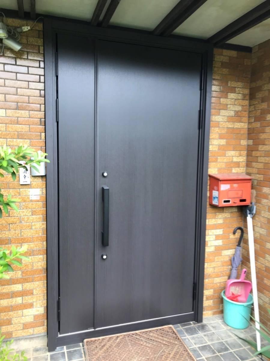 マサキトーヨー住器の防犯対策!玄関ドア リシェント交換工事の施工後の写真1